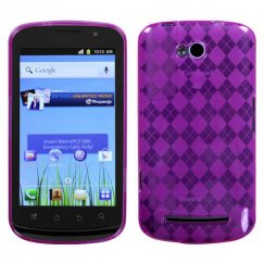Coolpad Quattro 4G Hot Pink Argyle Candy Skin Cover