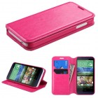 HTC Desire 510 Hot Pink Wallet with Tray