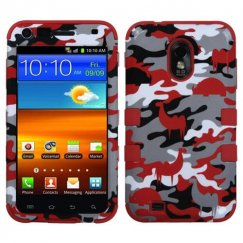 Samsung Epic 4G Touch (Galaxy S2) Red Desert Camo/Red Hybrid Case