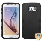 Samsung Galaxy S6 Rubberized Black/Black Hybrid Case