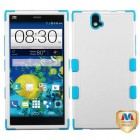 ZTE Grand X Max / Grand X Max Plus Natural Cream White/Tropical Teal Hybrid Case