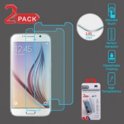 Samsung Galaxy S6 Tempered Glass Screen Protector - 2-pack