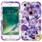 Apple iPhone 7 Purple Hibiscus Flower Romance/Electric Purple Hybrid Phone Protector Cover