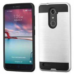 ZTE Grand X Max 2 Silver/Black Brushed Hybrid Case