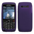 Blackberry 9100 Pearl 3G Solid Skin Cover - Purple