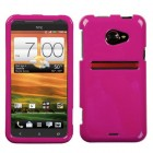 HTC EVO 4G LTE Solid Hot Pink Phone Protector Cover