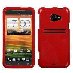 HTC EVO 4G LTE Solid Flaming Red Case