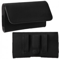 LG Revolution Black/Gray Wavy Horizontal Pouch