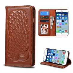 Apple iPhone 6/6s Brown Genuine Leather Wallet
