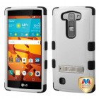 LG LS751 Volt 2 Natural Gray/Black Hybrid Case with Stand