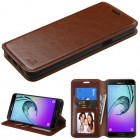 Samsung Galaxy A5 Brown Wallet with Tray
