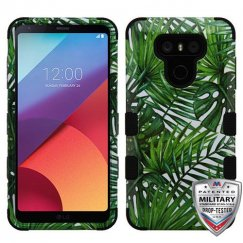 LG G6 Tropical Palms/Black Hybrid Case Military Grade