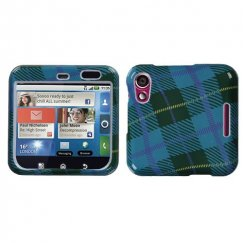 Motorola Flipout Blue Plaid Weave Case