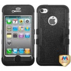 Apple iPhone 4/4s Natural Black/Black Hybrid Phone Protector Cover
