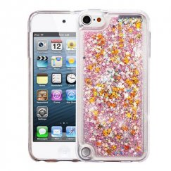 Apple iPod Touch (6th Generation) Stars & Pink Quicksand Glitter Hybrid Case