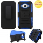 Samsung Galaxy J2 Black/Dark Blue Advanced Armor Stand Protector Cover (With Black Holster)
