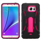 Samsung Galaxy Note 5 Hot Pink/Black Symbiosis Stand Protector Cover