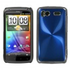 HTC Sensation 4G Blue brushedMETAL Cosmo Back Protector Cover