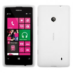 Nokia Lumia 521 Solid Skin Cover - Translucent White