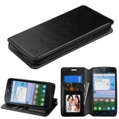 Alcatel Stellar / Tru 5065 Black Wallet with Tray