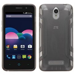 ZTE Obsidian Transparent Smoke Easy Grip Candy Skin Cover