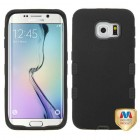 Samsung Galaxy S6 Edge Rubberized Black/Black Hybrid Phone Protector Cover