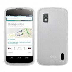 LG Nexus 4 Solid Skin Cover - Translucent White