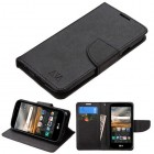 LG K3 Black Pattern/Black Liner wallet (with card slot)