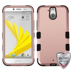 HTC Bolt Rose Gold/Black Hybrid Case - Military Grade