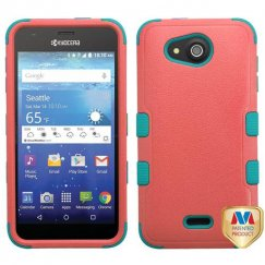 Kyocera Wave / Hydro Air Natural Baby Red/Tropical Teal Hybrid Case