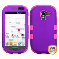 Samsung Galaxy Exhibit Rubberized Grape/Electric Pink Hybrid Case