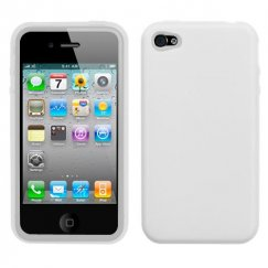 Apple iPhone 4/4s Solid Skin Cover - Translucent White