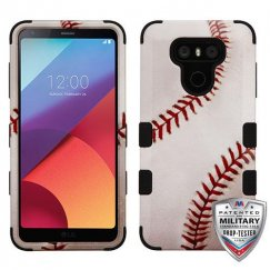 LG G6 Baseball-Sports Collection/Black Hybrid Case Military Grade