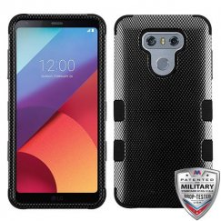 LG G6 Carbon Fiber/Black Hybrid Case Military Grade