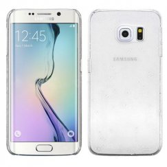 Samsung Galaxy S6 Edge Transparent White Gradient Water Drop Back Case
