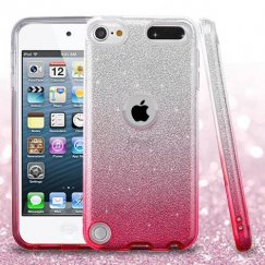 Apple iPod Touch (6th Generation) Pink Gradient Glitter Hybrid Case