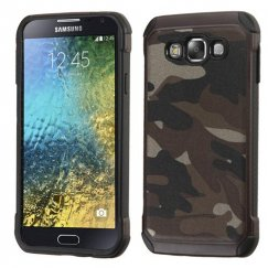 Samsung Galaxy E5 Camouflage Gray Backing/Black Astronoot Case