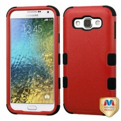 Samsung Galaxy E5 Natural Red/Black Hybrid Case