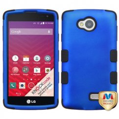 LG Tribute Titanium Dark Blue/Black Hybrid Case