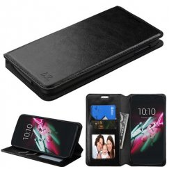 Alcatel One Touch Idol 3 (5.5) Black Wallet with Tray