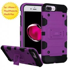 Apple iPhone 8 Plus Purple/Black Storm Tank Hybrid Case Military Grade