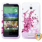 HTC Desire 510 Spring Flowers/Solid White Hybrid Case