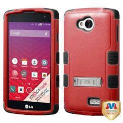 LG Tribute Natural Red/Black Hybrid Case with Stand