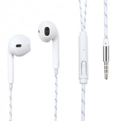 White Stereo Handsfree (with Glow Thread-Embedded Braid Cable)