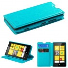Nokia Lumia 520 Blue Wallet with Tray