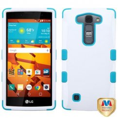 LG LS751 Volt 2 Ivory White/Tropical Teal Hybrid Case