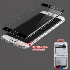 Samsung Galaxy S6 Edge Full Coverage Tempered Glass Screen Protector - Black