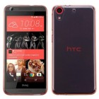 HTC Desire 626 Glossy Transparent Rose Gold Candy Skin Cover