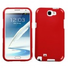Samsung Galaxy Note 2 Solid Flaming Red Case