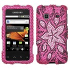 Samsung Galaxy Prevail Tasteful Flowers Diamante Protector Cover